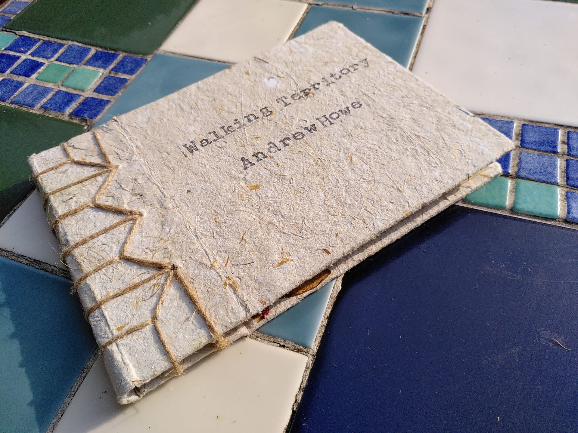 Front cover of the artist book Walking Territory