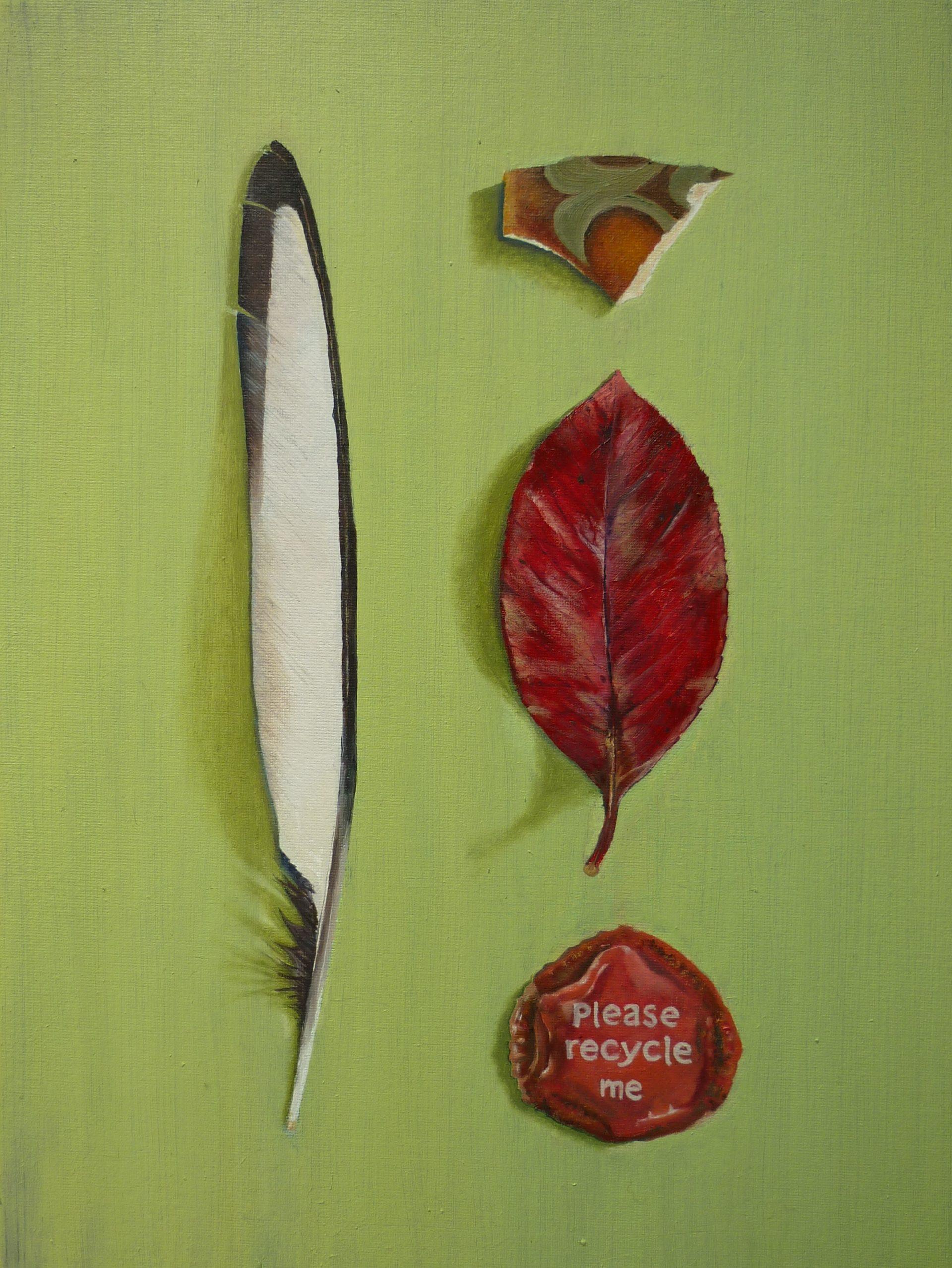 Feather, Leaf, china, lid.